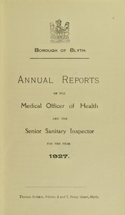 Cover of: [Report 1927] | Blyth (Northumberland, England). Borough Council