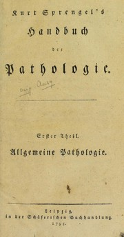 Cover of: Kurt Sprengel's Handbuch der Pathologie