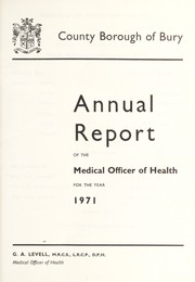 Cover of: [Report 1971]