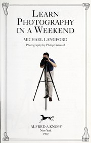 Cover of: Learn photography in a weekend