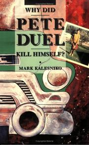 Cover of: Why Did Pete Duel Kill Himself?