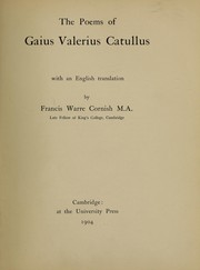 Cover of: The poems of Caius Valerius Catullus