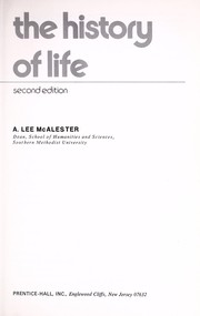 Cover of: The history of life | Lee A. McAlester