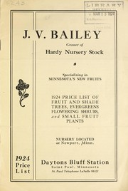 1924 price list of fruit and shade trees, evergreens, flowering shrubs and small fruit plants