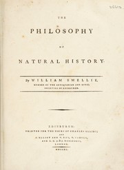 Cover of: The philosophy of natural history