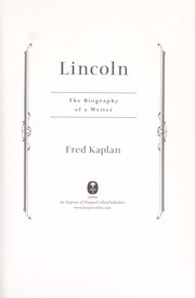 Cover of: Lincoln: the biography of a writer
