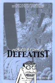 Cover of: Notes from a Defeatist