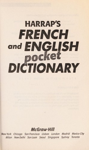 Harrap's French and English pocket dictionary by Isabelle Elkaim, Stuart Fortey
