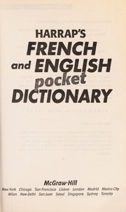 Cover of: Harrap's French and English pocket dictionary | Isabelle Elkaim, Stuart Fortey