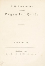 Cover of: S. Th. Sömmerring über das organ der seele ..