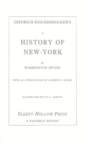 Diedrich Knickerbocker's A history of New-York by Washington Irving