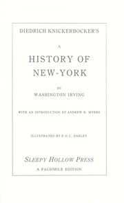 Cover of: Diedrich Knickerbocker's A history of New-York | Washington Irving
