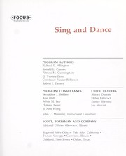 Cover of: Sing and dance
