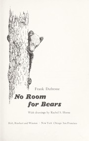 Cover of: No room for bears