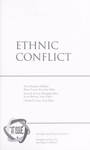 Ethnic conflict by book editor, Charles P. Cozic.