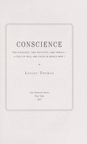 Cover of: Conscience | Louisa Thomas