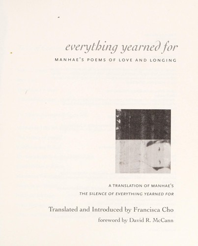 Everything yearned for by Francisca Cho