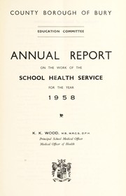 Cover of: [Report 1958]