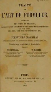 Cover of: Trait©♭ de l'art de formuler