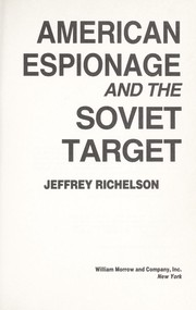 Cover of: American espionage and the Soviet target