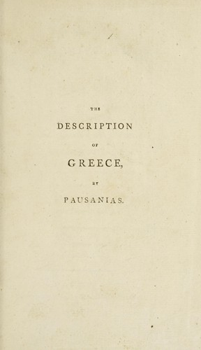 The description of Greece by Pausanias
