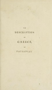 Cover of: The description of Greece by Pausanias