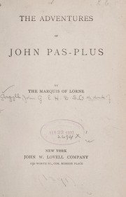 Cover of: The adventures of John Pas-Plus