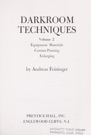 Cover of: Darkroom Techniques Volume 2
