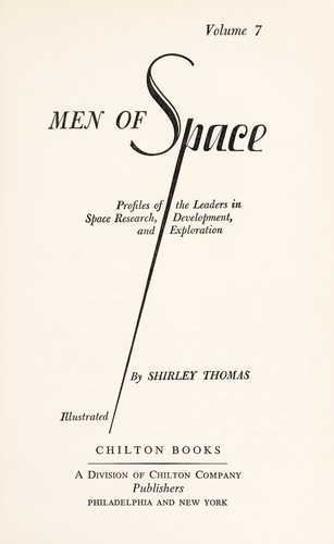 Men of space by Thomas, Shirley.