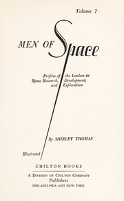 Cover of: Men of space | Thomas, Shirley.