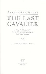 Cover of: The last cavalier | Alexandre Dumas