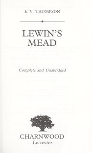 Cover of: Lewin's Mead