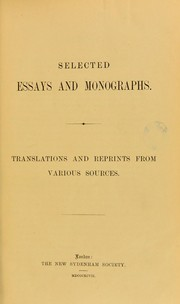 Cover of: Selected essays and monographs | Isaac Bruhl
