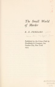 Cover of: The Small World of Murder