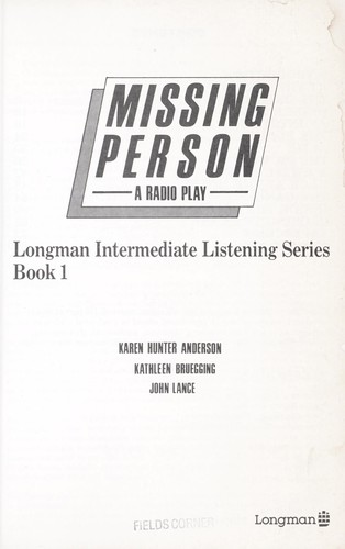 Missing person : a radio play ; listening strategies for beginners by