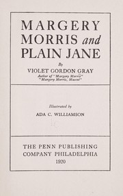 Cover of: Margery Morris and Plain Jane