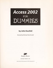 Cover of: Access 2002 for dummies