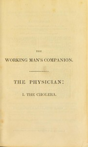 Cover of: The physician. I. The cholera