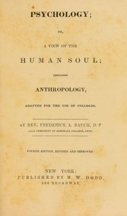 Cover of: Psychology, or, A view of the human soul, including anthropology