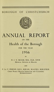 [Report 1956] by Christchurch (Dorset, England). Borough Council