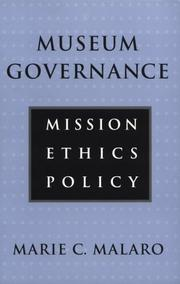 Cover of: MUSEUM GOVERNANCE