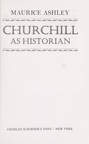 Cover of: Churchill as historian