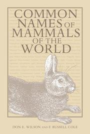 Cover of: COMMON NAMES MAMMALS WORLD | WILSON DON E