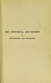 Cover of: The individual and society