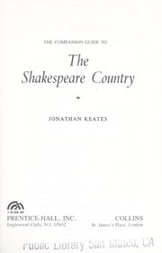Cover of: The companion guide to the Shakespeare country