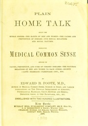 Cover of: Plain home talk
