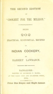 Cover of: Cookery for the million | Harriet Lawrance