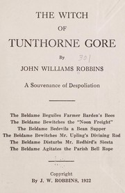 Cover of: The witch of Tunthorne Gore