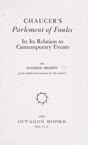 Cover of: Chaucer's Parlement of foules