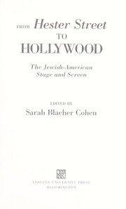 Cover of: From Hester Street to Hollywood | edited by Sarah Blacher Cohen.